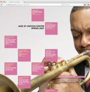 Jazz Poster made with CSS grid